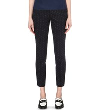 Claudie Pierlot Portland Tapered Twill Trousers Marine