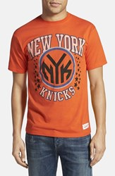 Men's Mitchell And Ness 'New York Knicks Shooting Stars' Tailored Fit Graphic T Shirt