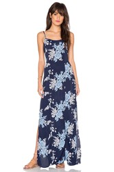 Privacy Please Bijou Slip Dress Navy