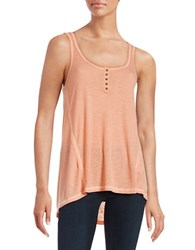 Others Follow Ribbed Tank Top Desert Flower