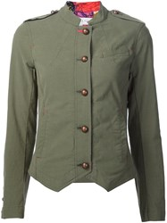 Trina Turk Fitted Military Jacket Green