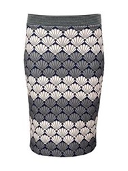 Markus Lupfer Shell Star Stripe Jessica Skirt Grey Pink