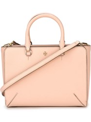 Tory Burch Zip Up Tote Bag Pink And Purple