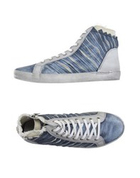Cafe'noir Cafenoir Footwear High Tops And Trainers Men Pastel Blue