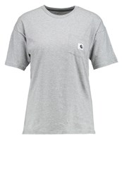 Carhartt Wip Basic Tshirt Grey Heather Black Mottled Grey