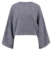 Kiomi Jumper Navy And White Dark Blue