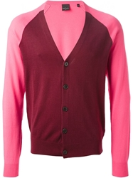 Paul Smith Contrasting Front V Neck Cardigan