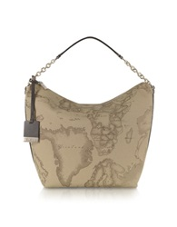 Alviero Martini 1A Prima Classe Geo Printed Medium Contemporary Shoulder Bag Grey