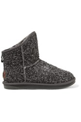 Australia Luxe Collective Cosy Short Shearling Boots Charcoal