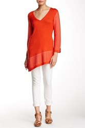 Cullen Asymmetric V Neck Sweater Red