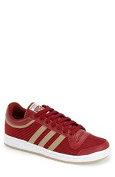 Men's Adidas 'Top Ten Lo' Leather Sneaker Rust Red Hemp White