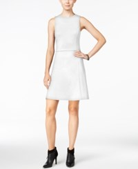 Bar Iii Fit And Flare Dress Only At Macy's Bright White