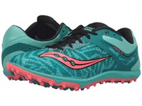 Saucony Havoc Xc Flat Teal Vizi Coral Women's Track Shoes Pink