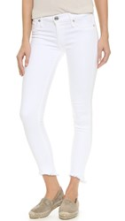 True Religion Halle Mid Rise Super Skinny Jeans Optic White