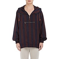 Bottega Veneta Men's Striped Hooded Anorak No Color