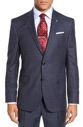 Ted Baker Men's London 'Jay' Trim Fit Windowpane Plaid Wool Sport Coat