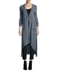 Lamade Lauren Jersey Long Cardigan Blue