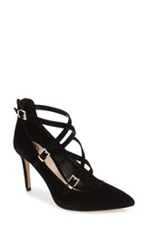 Vince Camuto Women's Vinca 'Neddy' Pointy Toe Pump Black Suede