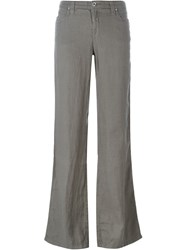 Armani Jeans Flared Trousers Grey