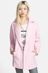 J.O.A. Single Button Car Coat Pink