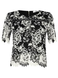 True Decadence Crochet Lace Top White Black