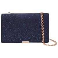 Ted Baker Avianna Studded Across Body Chain Strap Evening Bag Blue