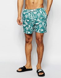 Selected Homme Sunset Swim Shorts Green