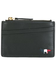 Maison Kitsune Top Zip Purse Black