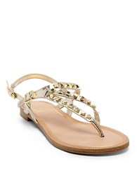 Dolce Vita Rosario Studded Leather Sandals Gold