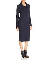 Three Dots Harriet Cowl Neck Sweater Dress Night Iris