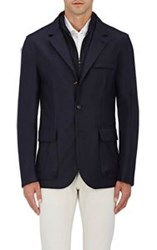 Luciano Barbera Men's Cashmere Three Button Jacket Blue