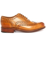 Grenson Amber Stanley Brogue Shoes With Floral Toe