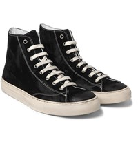 Nonnative Student Suede High Top Sneakers Black