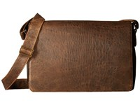 Scully Squadron Messenger Bag Antique Brown Messenger Bags