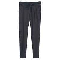 Mango Textured Baggy Trouser Black