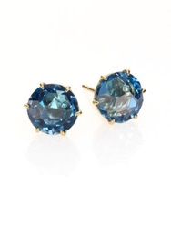 Ippolita Rock Candy London Blue Topaz And 18K Yellow Gold Stud Earrings Gold Blue