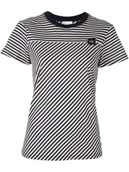 Red Valentino Striped T Shirt Blue