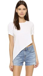 Kendall Kylie Asymmetrical Jersey Tee White