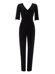 Wallis Black Flare Sleeve Jumpsuit