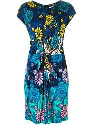 Issa Floral Print Knot Dress Multicolour