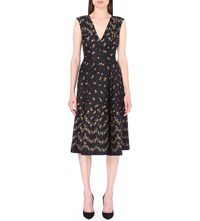 Philosophy Floral Print Twill Dress Black
