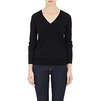 Barneys New York Cashmere V Neck Sweater Black