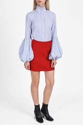 Theory Crepe Mini Skirt Red