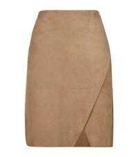 Polo Ralph Lauren Rachel Suede Skirt Female Brown