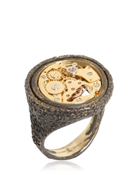 Cantini Mc Firenze Gold Plated Steampunk Ring