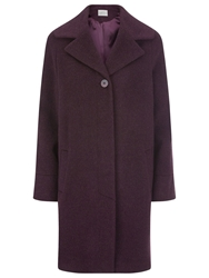 Kaliko Soft Brushed Wool Coat Dark Purple