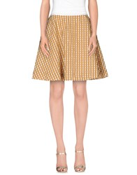 Tonello Skirts Knee Length Skirts Women Camel