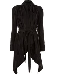 Masnada Belted Pointy Jacket Black