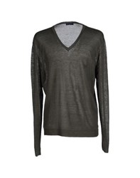 Trussardi Jeans Knitwear Jumpers Men Dark Green