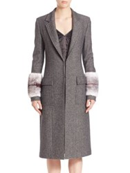 Wes Gordon Long Mink Coat Granite